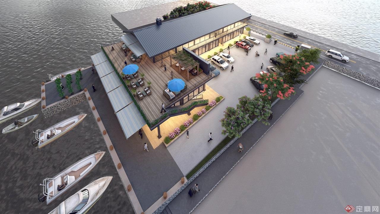 海岛咖啡厅景观建筑方案 (6)