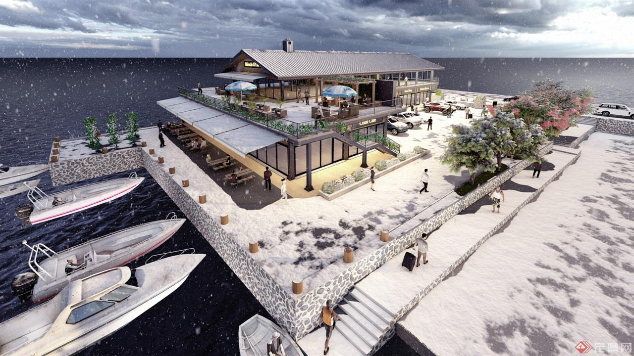 海岛咖啡厅景观建筑方案 (11)