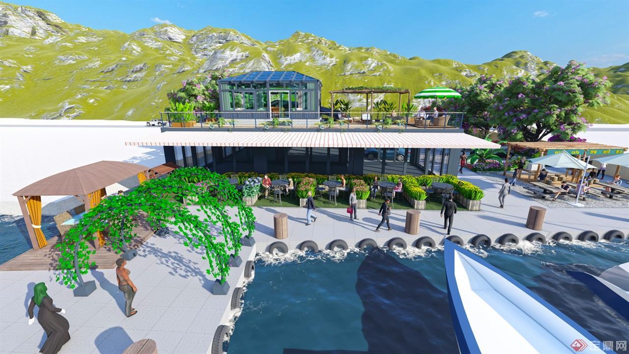 海岛餐厅景观 (6)