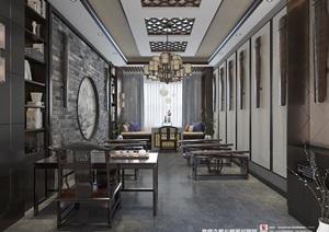 古琴房,新中式,禅意,可提供CAD施工图和预算