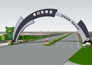 道路大门、现代大门、道路拱门