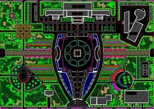 波尔多广场规划设计总平面图