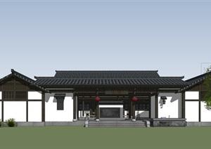 川南民居 四合院 精细化模型