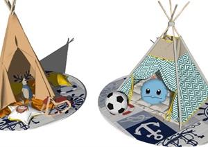 儿童房间帐篷室内装饰