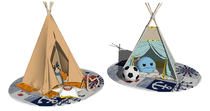 儿童房间帐篷室内装饰(2)