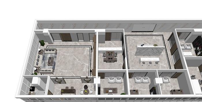 室内办公室客厅新中式设计(4)