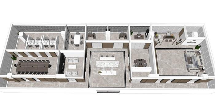 室内办公室客厅新中式设计(5)
