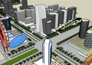 城市规划      SU(草图大师)模型