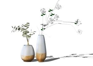 现代花瓶摆件装饰品陈设SU(草图大师)模型