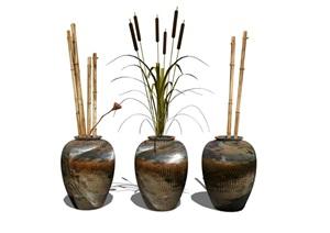 新中式花瓶陶罐装饰品摆件SU(草图大师)模型