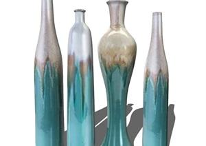 新中式花瓶装饰品摆件陈设 SU(草图大师)模型