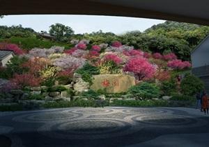 植物园梅园园林景观设计ps效果图