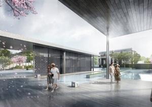 售楼处,现代主义风格,2层,混凝土,玻璃
