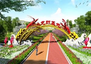 景区大门、小龙虾产业景观大门