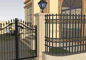 欧式别墅庭院花园景观设计SU(草图大师)模型2.0