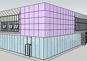 某开发楼盘展示区售楼部外幕墙草图施工方案