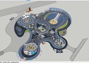 儿童种子乐园景观方案SU(草图大师)模型