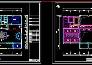 三层欧式售楼处室内装饰设计(CAD图及效果图)