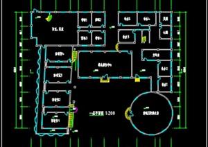 二层青少年宫活动中心建筑设计(SU(草图大师)亿博网络平台+cad图)-约3000平