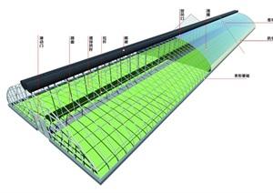 大跨度拱形温室高精模型