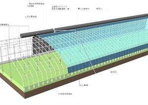 无土墙日光温室结构示意图(含亿博网络平台)