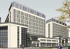 某现代风格商业住宅办公综合体SU(草图大师)模型