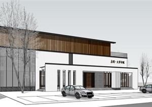 新中式办公楼SU(草图大师)模型