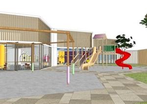 幼儿园室内室外设计SU(草图大师)模型素材