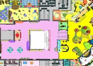 大型室内儿童娱乐乐园设计SU(草图大师)模型