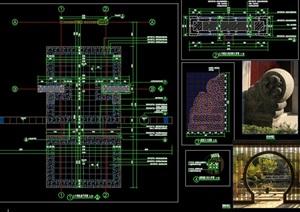 新中式项目展示区入口处景观构架
