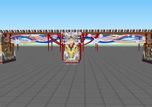 游乐场方案、施工图及模型