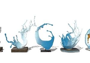 现代雕塑 雕塑小品 景观小品SU(草图大师)模型
