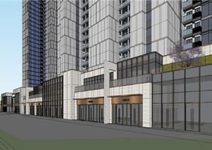 现代风格沿街商业+高层住宅