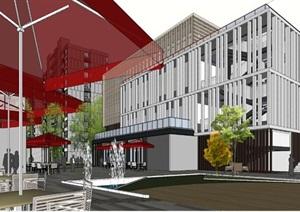 现代风格住宅+商业街