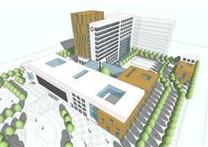 医院-最近新作地级市中标医院建筑方案