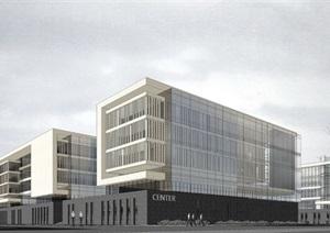 产业园-产业园 SU(草图大师)模型 办公产业园