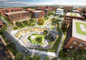 产业园-规划-总部园区 场地大模型