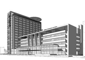 医院-医院SU(草图大师)模型,医院SU(草图大师)模型