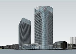 产业园-规划-科技产业园的规划图 办公创意产业园 高层+多层办公SU(草图大师)