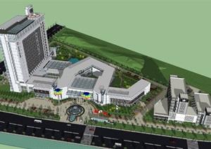 医院-人民医院  人民医院SU(草图大师)模型