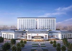 医院-现代中式大型医院
