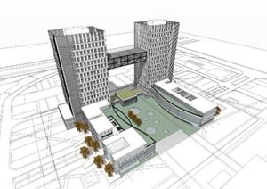 双塔楼办公楼-公建60M