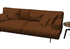 意大利 Poliform家具 现代 双人沙发 茶几