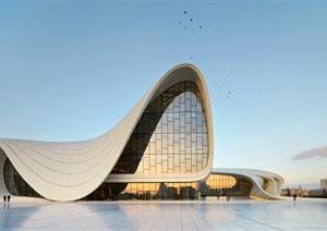阿利耶夫文化中心(Heydar Aliyev Cultural center)扎哈哈迪德