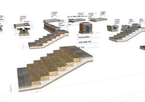室外工程设施施工图模型