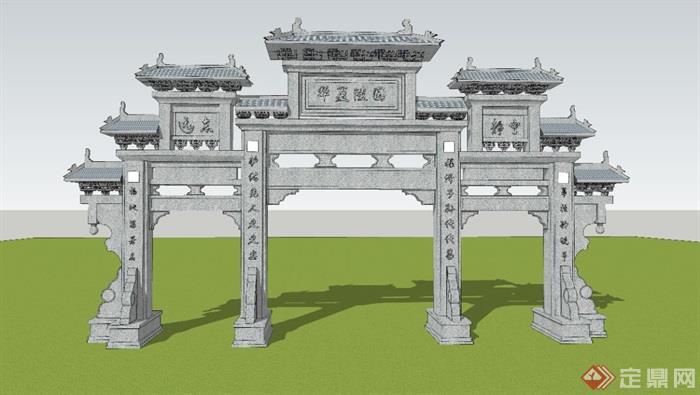 牌楼模型1
