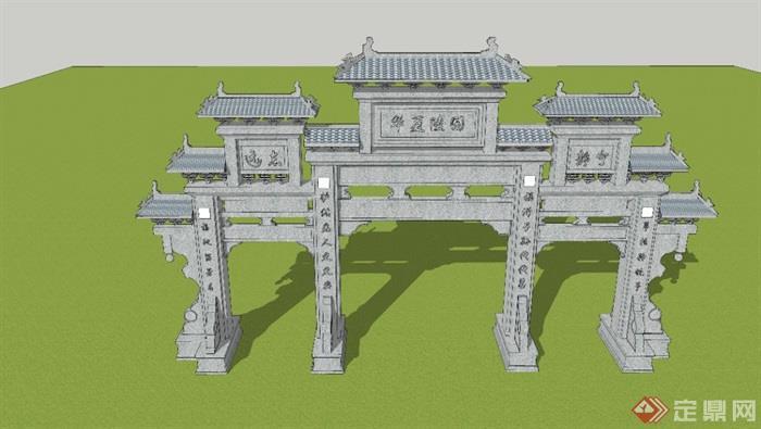 牌楼模型3