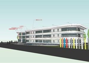 最终幼儿园建筑SU(草图大师)模型
