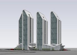 写字楼综合体 -商业综合体-办公塔楼