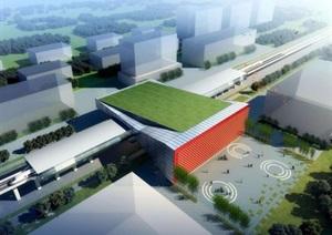 某市轻轨站规划方案模型